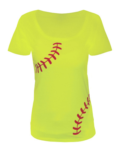 Women's Softball Laces T-Shirt - Slim Fit