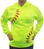 Women's Softball Laces Hoodie Sweatshirt on model