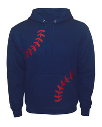 Baseball Laces Navy Men's Hoodie