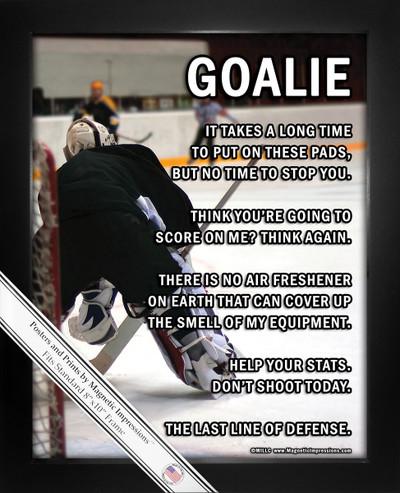 Framed Ice Hockey Goalie on Ice 8x10 Sport Poster Print