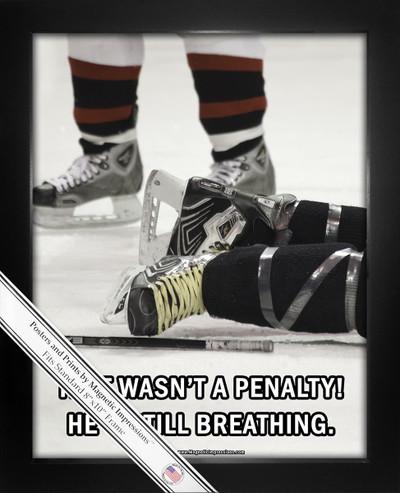 Ice Hockey Penalty 8x10 Sport Poster Print