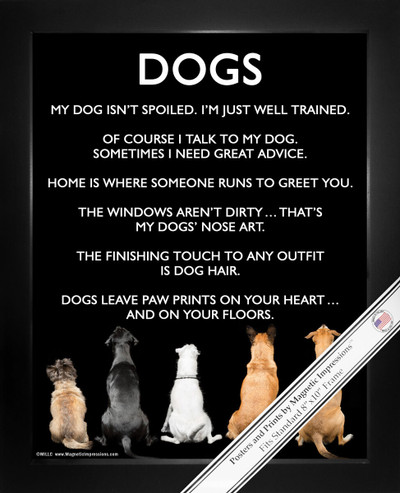 Framed Dogs 8x10 Poster Print