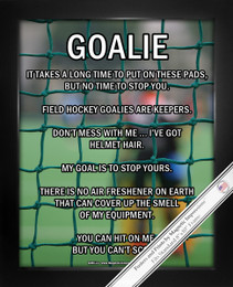 Framed Field Hockey Goalie 8x10 Sport Poster Print