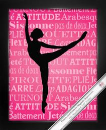 Framed Ballet Dancer Arabesque 8x10 Sport Poster Print