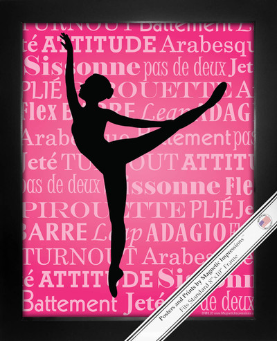 Framed Ballet Dancer Arabesque 8x10 Sport Poster Print