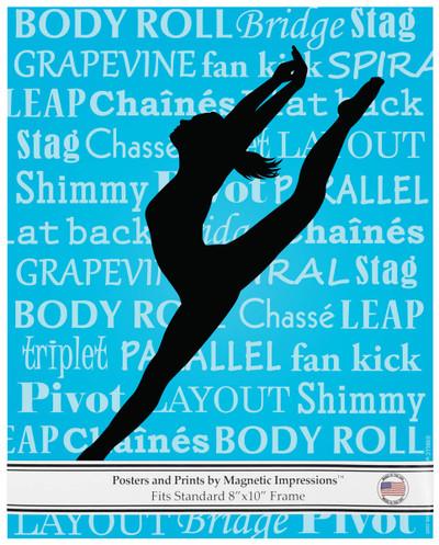 Modern Dancer Leap 8x10 Sport Poster Print