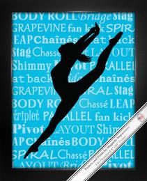 Framed Modern Dancer Leap 8x10 Sport Poster Print
