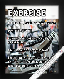 Framed Exercise Motivational 8x10 Sport Poster Print