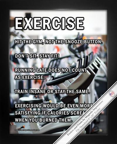 Framed Exercise Motivational 8x10 Sport Poster Print