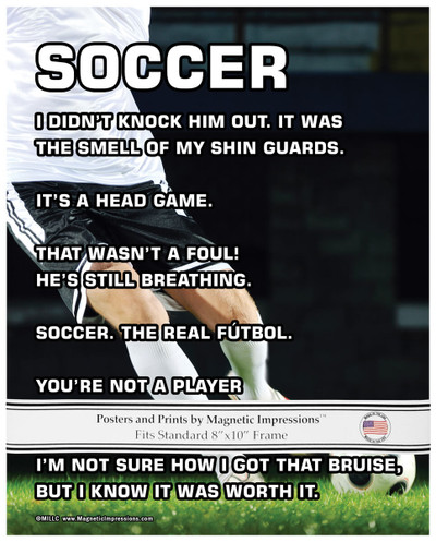 """Soccer Player Male 8"""" x 10"""" Sport Poster Print"""