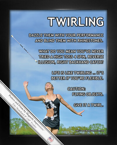 Framed Twirling 8x10 Sport Poster Print