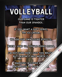 Framed Volleyball Huddle 8x10 Sport Poster Print