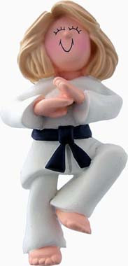 Blonde Female Martial Arts Ornament