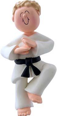 Blonde Male Martial Arts Ornament
