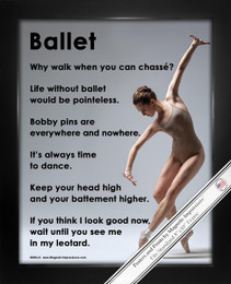 Framed Ballet on Pointe Dance 8x10 Sport Poster Print