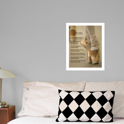 """Ballet Shoes 13.75"""" x 17"""" Dance Wall Decal in Room"""