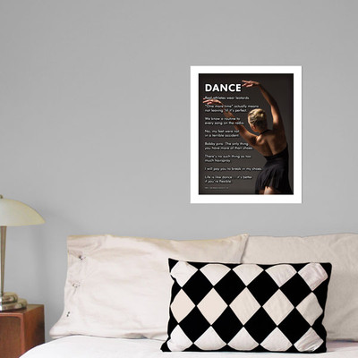 "Modern Dance 13.75"" x 17"" Dance Wall Decal in room"