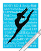 "Modern Dancer Leap 13.75"" x 17"" Dance Wall Decal"