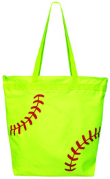Softball Laces Tote Bag