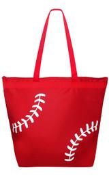 Baseball Laces Tote Bag