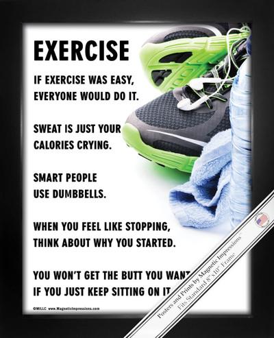 Framed Exercise Fitness 8x10 Sport Poster Print