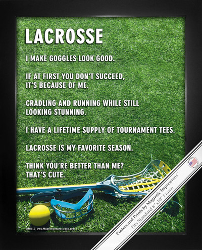 Framed Lacrosse Female Goggles 8x10 Sport Poster Print