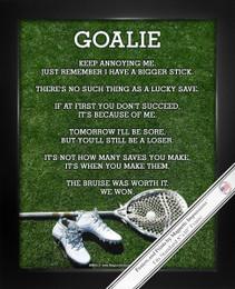 Framed Lacrosse Goalie Cleats 8x10 Sport Poster Print