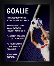 """Soccer Goalie Female 8"""" x 10"""" Sport Poster Print"""