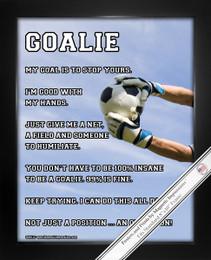 """Framed Soccer Goalie Male 8"""" x 10"""" Sport Poster Print"""