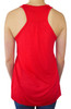 Women's Softball Heart Glitter Racerback Tank Top Shirt Rear View