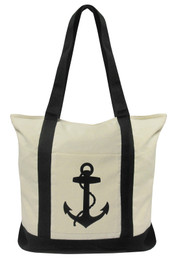 Nautical Anchor Canvas Tote Bag