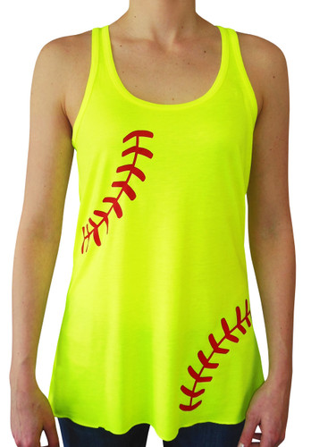 Women's Softball Laces Tank Top
