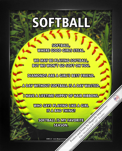 Softball On Field 8x10 Sport Poster Print