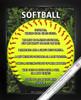 Framed Softball on Field 8x10 Sport Poster Print