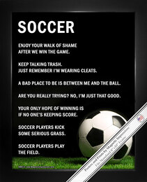 Soccer Ball on Field 8x10 Sport Poster Print