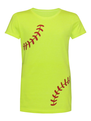 Girl's Youth Softball Laces T-Shirt