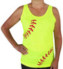 Women's Softball Laces Loose Fit Tank Top