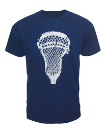 Men's Lacrosse Head T-Shirt in Navy