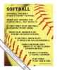 """Softball Sayings 13.75"""" x 17"""" Wall Decal"""
