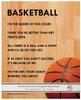 Basketball Female 8x10 Sport Poster Print