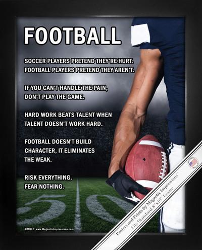 Framed Football Player 8x10 Sport Poster Print