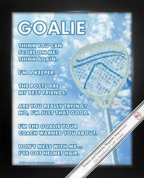 Framed Lacrosse Goalie Sky 8x10 Sport Poster Print