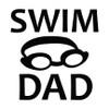 Swim Dad Goggles Window Decal