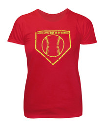 Women's Softball T-shirt - Dirt on Diamond Saying