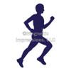 Runner Male Window Decal in Blue