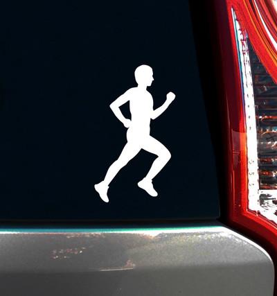 Runner Male Window Decal on Car Window