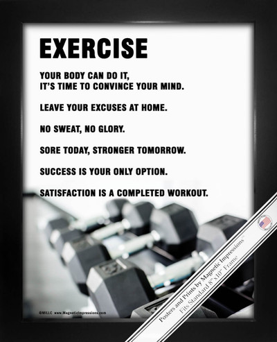 Framed Exercise Weight Set 8x10 Sport Poster Print