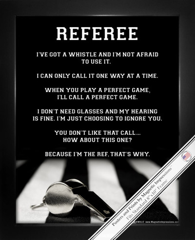 Framed Referee 8x10 Poster Print