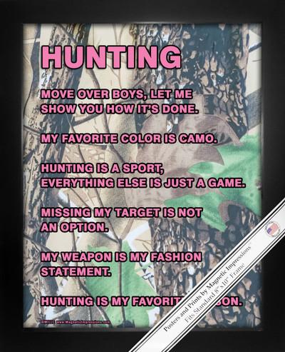 Framed Hunting Girl 8x10 Sport Poster Print