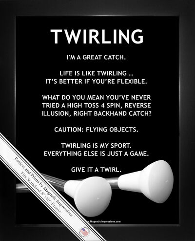 Framed Twirling Batons 8x10 Poster Print